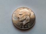США 1 доллар 1974 S Эйзенхауэр / серебро, фото №2