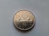 Канада 1 доллар 1961 / серебро, фото №2