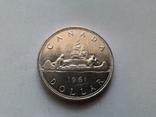 Канада 1 доллар 1961 / серебро, фото №3