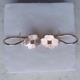 Сережки золото 585 СССР 3,71 г, фото №5