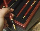 Ручки в деревянном корпусе, фото №5