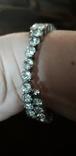 Бижутерный браслет с белыми камнями, фото №5
