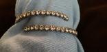 Бижутерный браслет с белыми камнями, фото №9