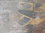 """Икона """" Николай Чудотворец"""". Большая. 68х52,5см. Мощевик(?). Украина. Сер.19века., фото №5"""
