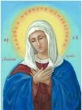 Икона маслом 30х40 Умиление Божьей Матери, фото №2