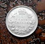 5 центов Канада 1918 состояние серебро, фото №3