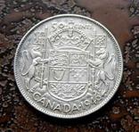 50 центов Канада 1946 состояние серебро, фото №5