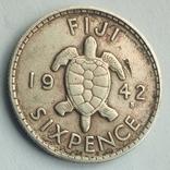 Фиджи 6 пенсов 1942 г., фото №4