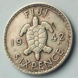 Фиджи 6 пенсов 1942 г., фото №5