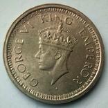 Британская Индия 1 рупия 1945 г., фото №2