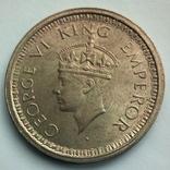 Британская Индия 1 рупия 1945 г., фото №3