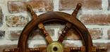 Штурвал из розового дерева, диаметр 60 см, фото №4