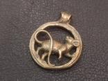 Крыса кулон статуэтка миниатюра брелок бронза, фото №2