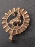Козерог кулон миниатюра бронза брелок, фото №3