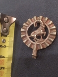 Козерог кулон миниатюра бронза брелок, фото №6