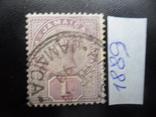 Британские колонии. Ямайка. 1889 г. Виктория. гаш, фото №2