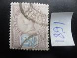 Британские колонии. Ямайка. 1891 г. Виктория. гаш, фото №2