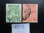 Британские колонии. Сент-Винсент. 1913 г. гаш, фото №2