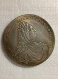 Настольная медаль в память адмирала Федора Апраксина 1708 года v9 копия, фото №3