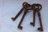 Ключи старинные,с кольцом большие, фото №4