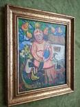 """Мама с сыночком"" х.м. 32х26. Ю.Коваленко (1931-2004), фото №8"