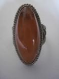 Кольцо природный янтарь мельхиор, фото №3