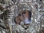 Коронованная Пресвятая Богородица Масло 19 век ., фото №12
