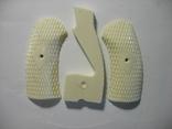 Наган, накладки рукояти, крупная насечка, цвет белый. копия, фото №2
