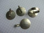 Набор. Серьги, кольцо, кулон., фото №5