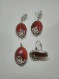 Сердолик серебро (ручной работы), фото №4