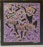 Картина на ткани (батик) - африканская тема, фото №2