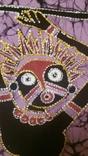 Картина на ткани (батик) - африканская тема, фото №4