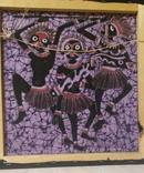 Картина на ткани (батик) - африканская тема, фото №7