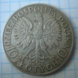 Польша 10 злотых 1932 года.Ядвига., фото №7