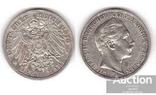Germany / Prussia Германия Пруссия - 3 Mark 1910 серебро, фото №2