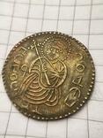 Сребреник Святополк (ПЕТРОС) крестильный 1015-1019гг копия, фото №2