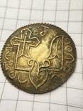 Сребреник Святополк (ПЕТРОС) крестильный 1015-1019гг копия, фото №4