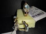 Гарнитур кольцо и серьги, фото №3