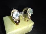 Гарнитур кольцо и серьги, фото №9