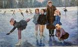 Картина СССР Тренировка на льду. Динамо, фото №4