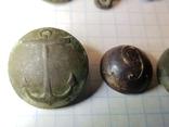 Пуговицы орел на топорах серебро, гренада, 9, якорь и др., фото №3