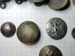 Пуговицы орел на топорах серебро, гренада, 9, якорь и др., фото №4