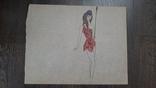 Рисунок на кальке лист дембельского альбома амазонка, фото №2