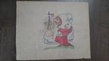 Рисунок на кальке лист дембельского альбома козак богиня, фото №2