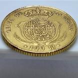 100 реалов. 1862. Изабелла II. Испания (золото 900, вес 8,35г), фото №8