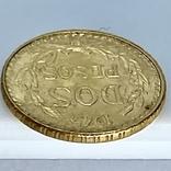 2 песо. 1945. Мексика (золото 900, вес 1,68 г), фото №12