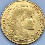 """10 франков. 1900. """"Петух"""" Франция (золото 900, вес 3,23 г), фото №5"""