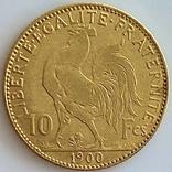 """10 франков. 1900. """"Петух"""" Франция (золото 900, вес 3,23 г), фото №6"""