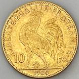 """10 франков. 1900. """"Петух"""" Франция (золото 900, вес 3,23 г), фото №7"""