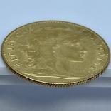 """10 франков. 1900. """"Петух"""" Франция (золото 900, вес 3,23 г), фото №11"""